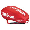 Tour 9 Pack Tennis Bag Red Molded by WILSON