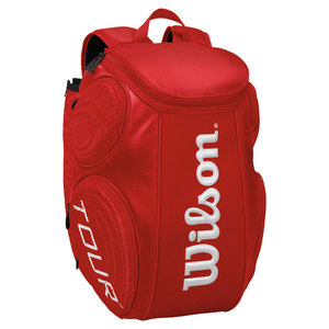 WILSON TOUR LARGE TENNIS BACKPACK RED MOLDED