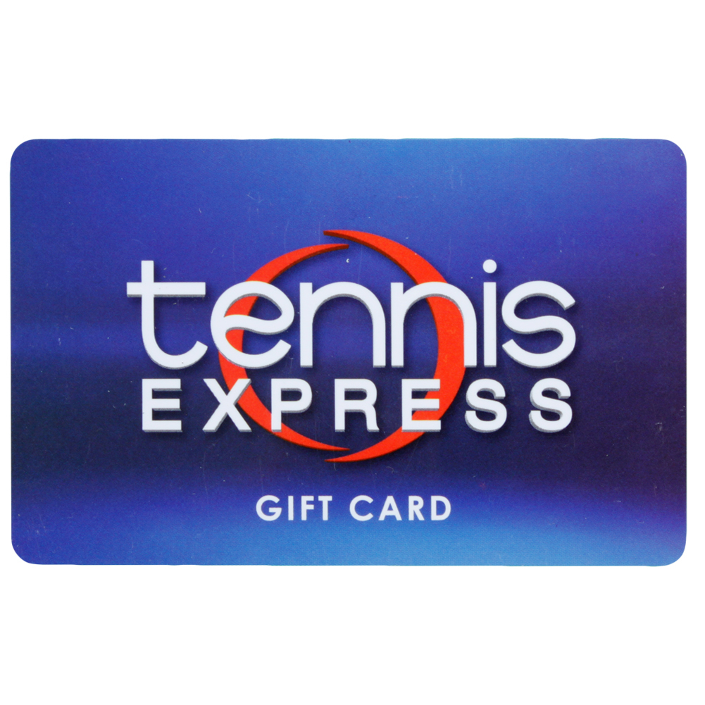 Blue Gift Cards Tennis Express Gift Cards are the perfect gift for any tennis enthusiast Just select an amount between 10 and 300 and a Gift Card will be sent via US mail with delivery confirmation Gift Cards can be used online or our Houston store
