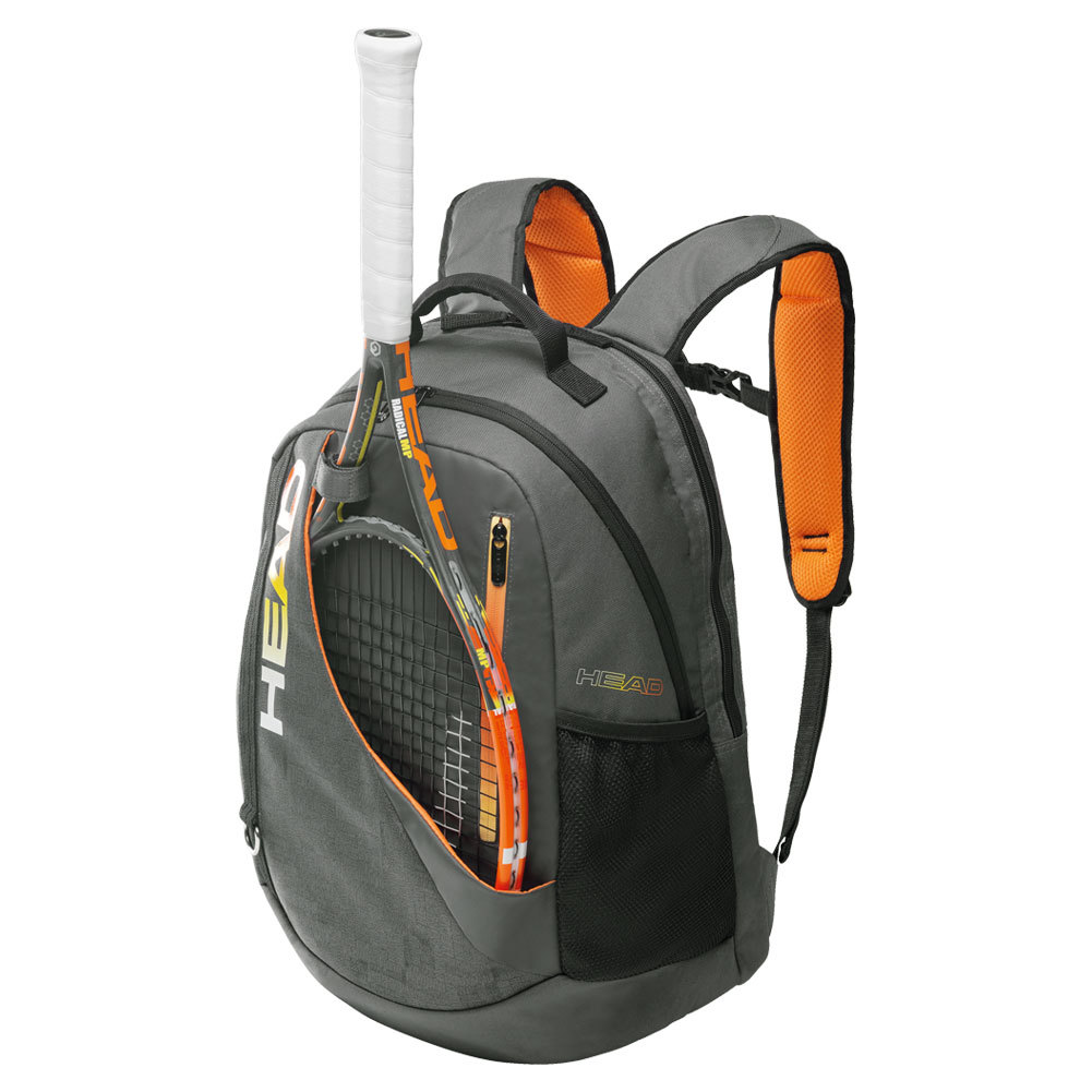 Radical Tennis Backpack Gray And Orange