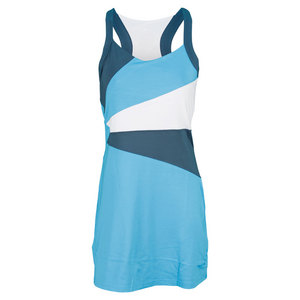 BOLLE WOMENS MOON DUST TENNIS DRESS BLUE