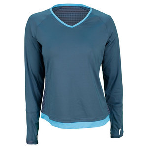 BOLLE WOMENS MOON DUST LONG SLEEVE TOP GRAY