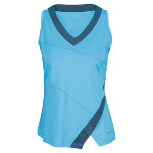 BOLLE WOMENS MOON DUST TENNIS TANK BLUE