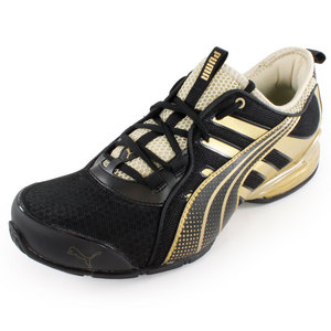 PUMA MENS VOLTAIC 4 METALLIC SHOES BLACK/GOLD