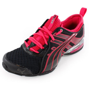 PUMA WOMENS VOLTAIC 4 FADE RUN SHOES BLACK/PK