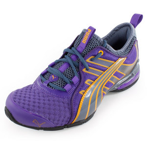 PUMA WOMENS VOLTAIC 4 FADE RUN SHOES PURPLE