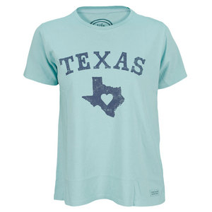 LIFE IS GOOD WOMENS TEXAS LOVE CRUSHER TEE TIDE BLUE