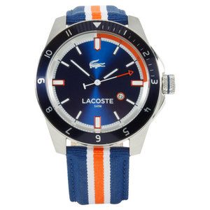 LACOSTE DURBAN WATCH NAVY AND SILVER