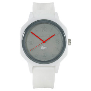 LACOSTE 80TH UNEXPECTED WATCH SILVER AND WHITE