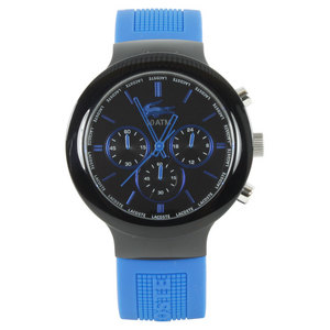 LACOSTE BORNEO WATCH BLACK AND BLUE