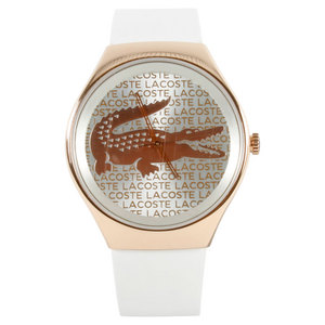 LACOSTE VALENCIA WATCH GOLD AND WHITE