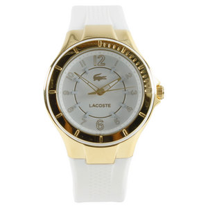 LACOSTE ACAPULCO WATCH GOLD AND WHITE