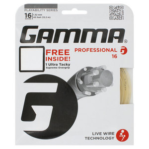 Live Wire Professional 16G With Grip Tennis String Natural