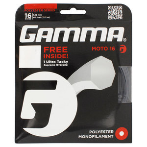 Moto 16G With Grip Tennis String Black