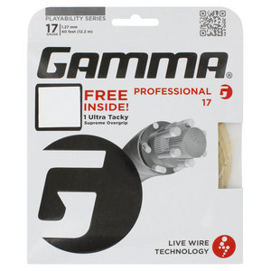Live Wire Professional 17G With Grip Tennis String Natural