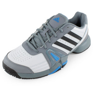 adidas MENS BERCUDA TENNIS SHOES LT GRAY/BK/BL