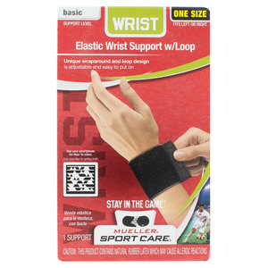 MUELLER BLACK WRIST SUPPORT W/LOOP