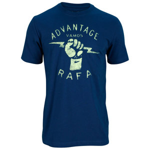 NIKE MENS RAFA TENNIS TEE NAVY