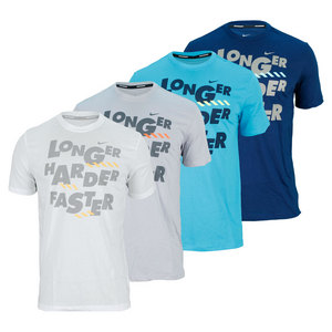 NIKE MENS LONGER HARDER FASTER RUNNING TEE