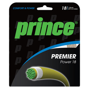 PRINCE PREMIER POWER 18G TENNIS STRING NATURAL