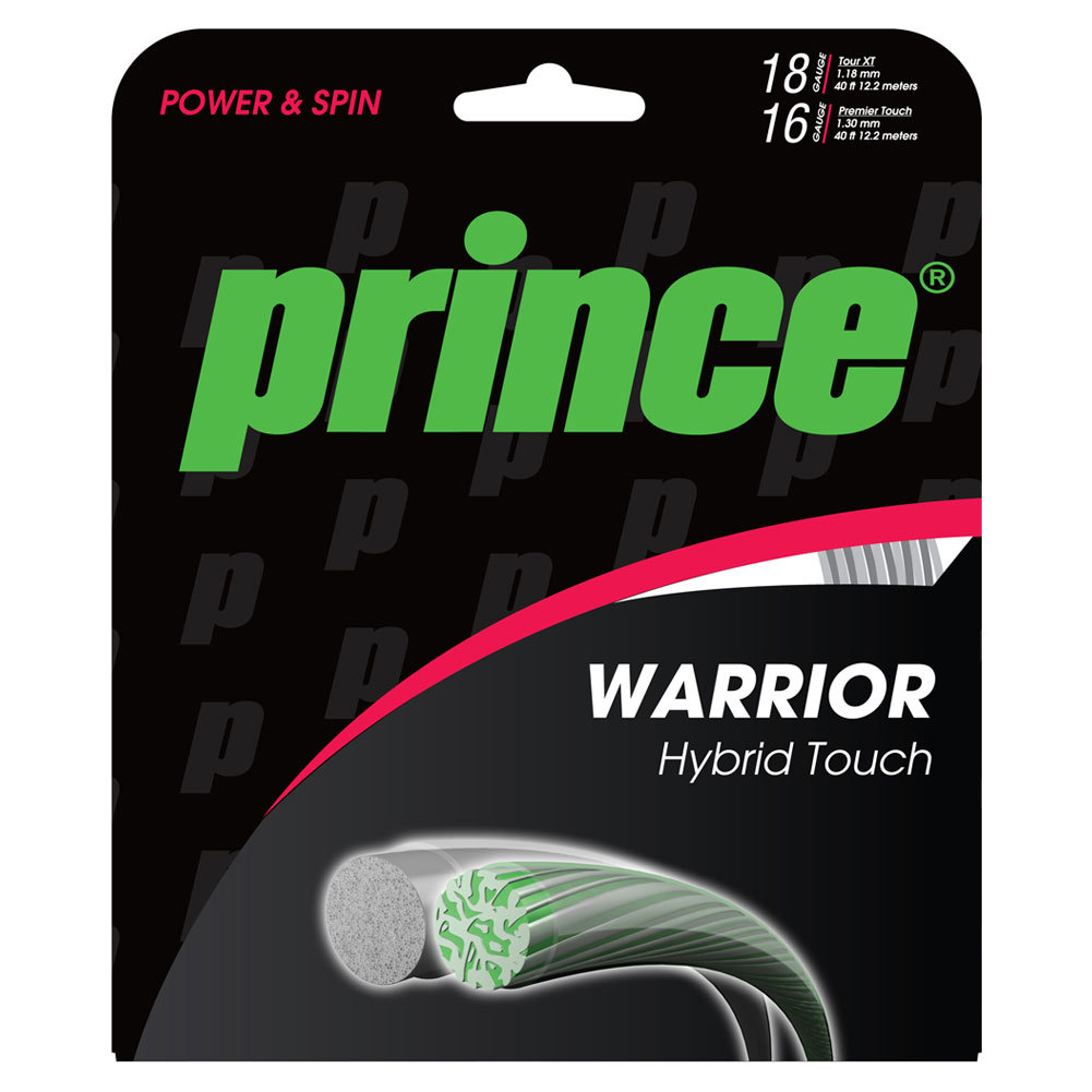 Warrior Hybrid Touch Tennis String Silver And Clear