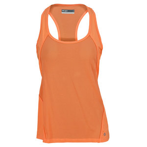 LIJA WOMENS TONAL RACER TENNIS TANK ORANGE