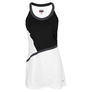 BOLLE WOMENS LUNAR ECLIPSE TENNIS DRESS BK/WH