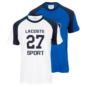 LACOSTE MENS SHORT SLEEVE 27 GRAPHIC TENNIS TEE