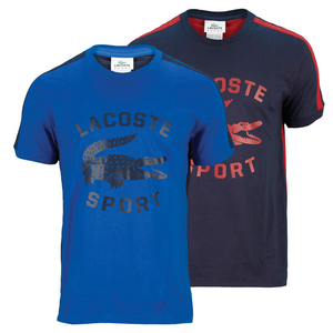 LACOSTE MENS SHORT SLEEVE LG CROC GRAPHIC TEE