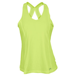 SOFIBELLA WOMENS ATHLETIC TENNIS TANK LIME
