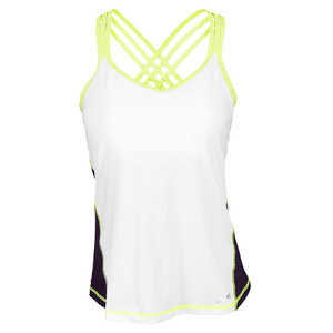 SOFIBELLA WOMENS ATHLETIC CAMI TENNIS TOP WH/PLUM