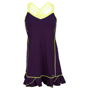 SOFIBELLA WOMENS CAMI TENNIS DRESS PLUM