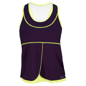 SOFIBELLA WOMENS ATHLETIC TENNIS TANK PLUM