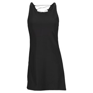 ELIZA AUDLEY WOMENS BACK XV TENNIS DRESS BLACK