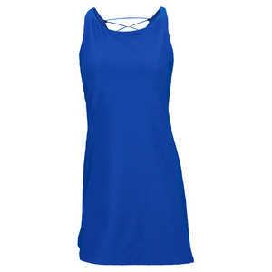 ELIZA AUDLEY WOMENS BACK XV TENNIS DRESS ROYAL