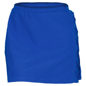 ELIZA AUDLEY WOMENS SIDE X TENNIS SKORT ROYAL