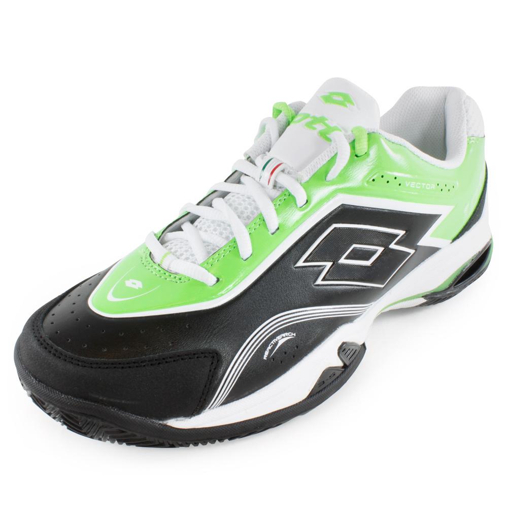 Men's Vector V Tennis Shoes Black And Green