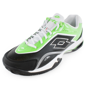 LOTTO MENS VECTOR V SHOES GRAPHITE BK/GN