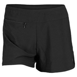 ELIZA AUDLEY WOMENS BASIC SLIT TENNIS SHORT BLACK/ROY