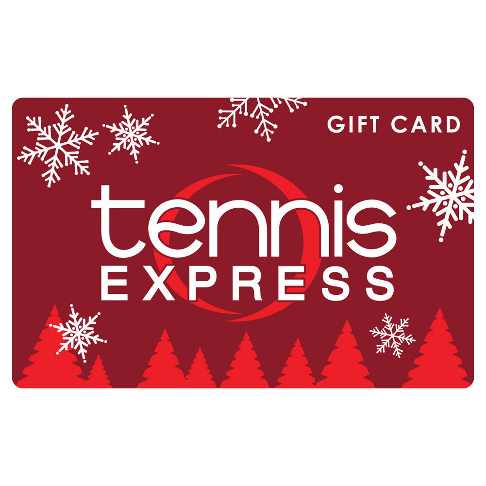 Holiday Gift Cards Tennis Express Gift Cards are the perfect gift for any tennis enthusiast Just select an amount between 10 and 300 and a Gift Card will be sent via US mail with delivery confirmation Gift Cards can be used online or our Houston store