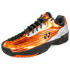 Unisex Power Cushion 308Cl Tennis Shoes Black and Orange by YONEX