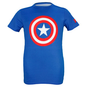 UNDER ARMOUR BOYS ALTER EGO CAPT AMERICA TEE ROYAL