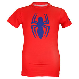 UNDER ARMOUR BOYS ALTER EGO SPIDER MAN TEE RED