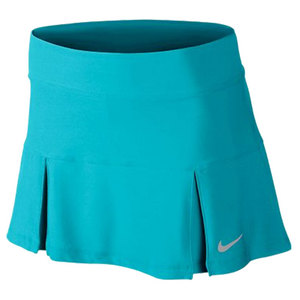 NIKE WOMENS 4 PLEATED KNIT 14.17 IN SKIRT BL