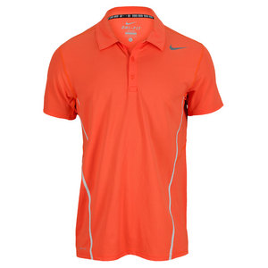 NIKE MENS SPHERE TENNIS POLO TURF ORANGE