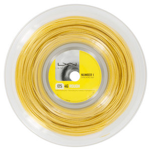 LUXILON 4G ROUGH 125 16L TENNIS STRING REEL GOLD