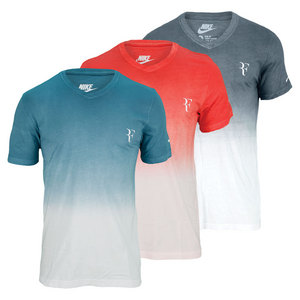 NIKE MENS RF V NECK TENNIS TEE