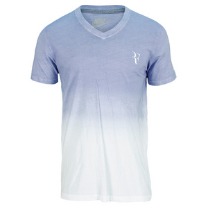 NIKE MENS RF V NECK TENNIS TEE WHITE/IRON PPL