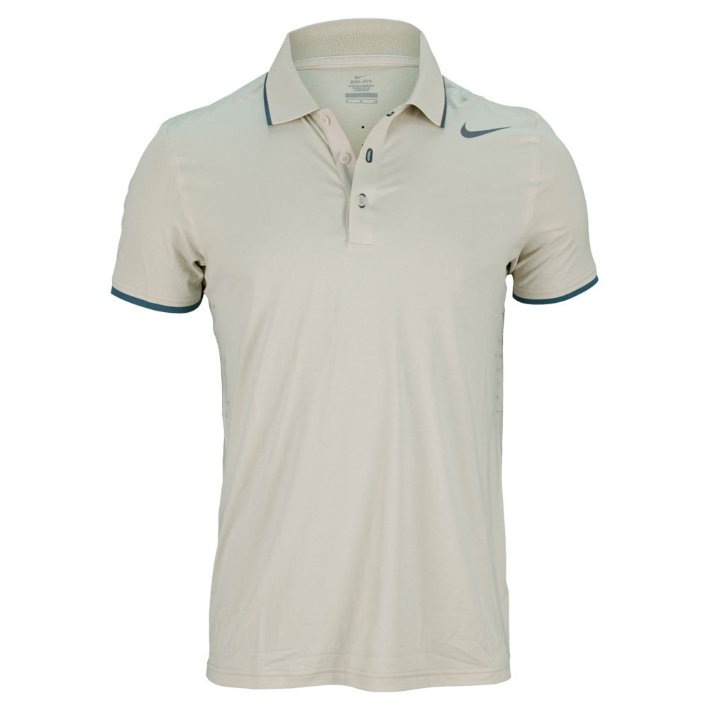 Men`s Premier Roger Federer Tennis Polo The  Nike Mens Premier RF Tennis Polo features DriFIT technology with allover bonded seams and a silicon screen on the back panel for ventilation