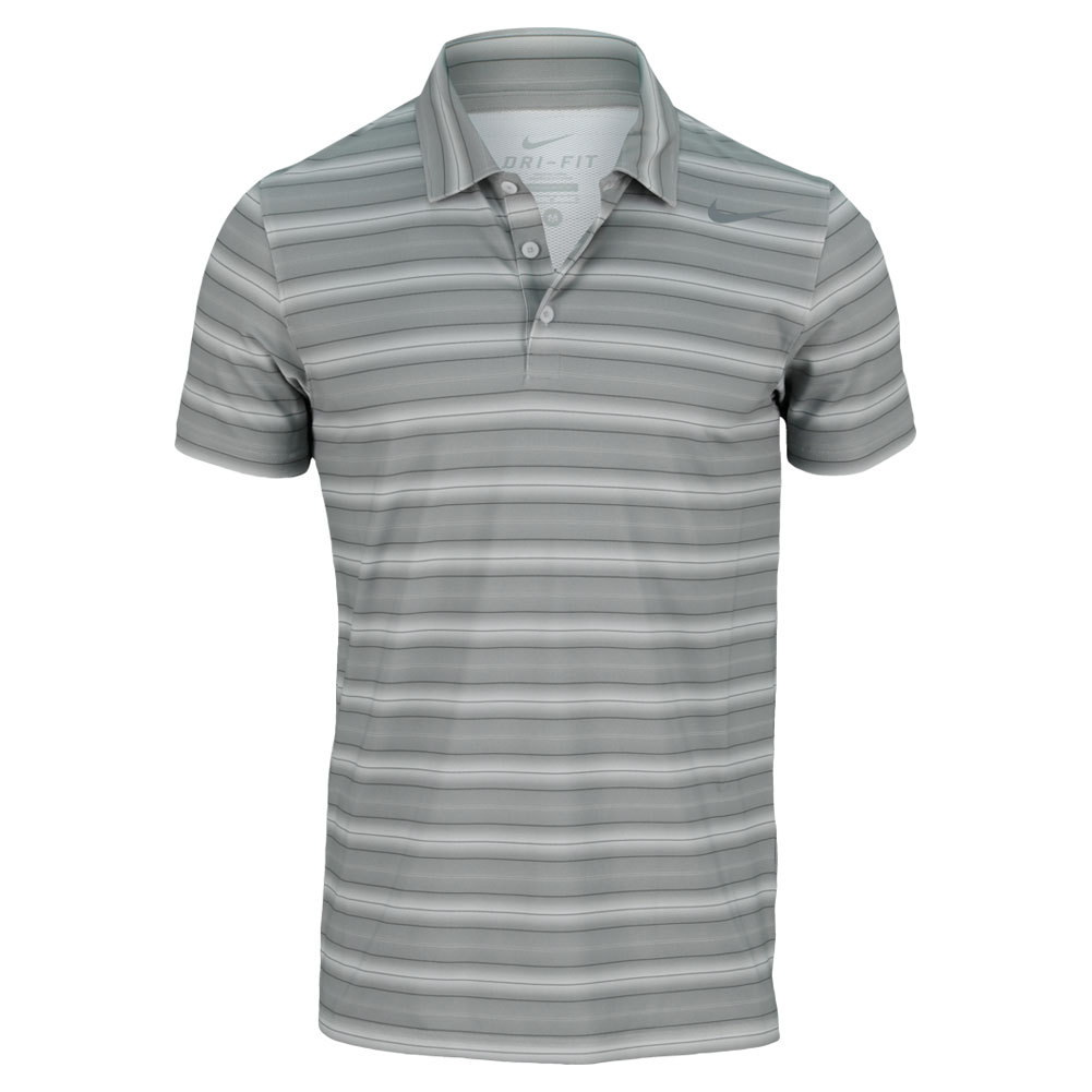 Men`s Rally Sphere Stripe Tennis Polo The Nike Mens Rally Sphere Stripe Tennis Polo provides comfort and lightweight DriFIT fabric